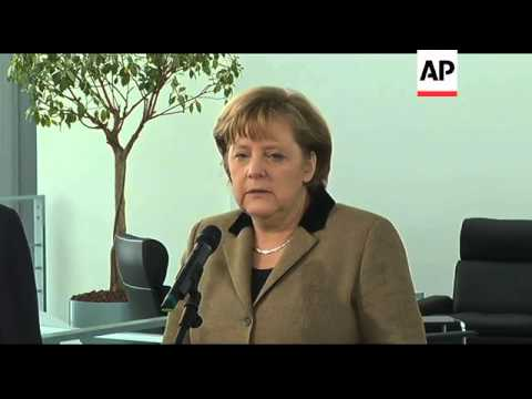 Merkel and head of Arab League condemn Syria violence