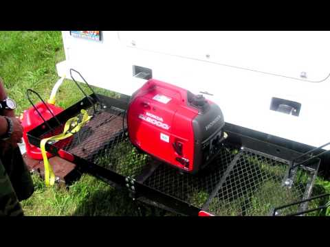 How to start a Honda EU2000i Generator.