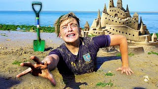 Download Lagu I Spent the Night in a Sandcastle & It was a HUGE Mistake... (24 Hour Challenge) Gratis STAFABAND