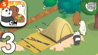 WE BARE BEARS MATCH 3 REPAIRS - Prepare To Camp - Gameplay Walkthrough Part 3 (iOS Android)