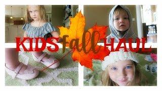 HUGE FALL KIDS CLOTHES HAUL | KIDS FASHION SHOW