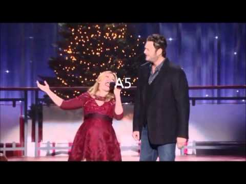 Kelly Clarkson belting a A5 (Blake Sheltons Not So Family Christmas)