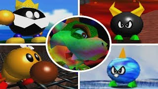 Super Mario 64 - All Bosses