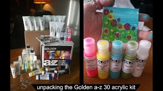 Unpacking the Golden a-z 30 acrylic kit