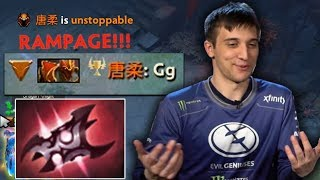 Arteezy RAMPAGE Crazy Armlet Toggle by Babyrage in Calm Mode