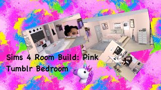 The Sims 4: Room Build || Pink Tumblr Room