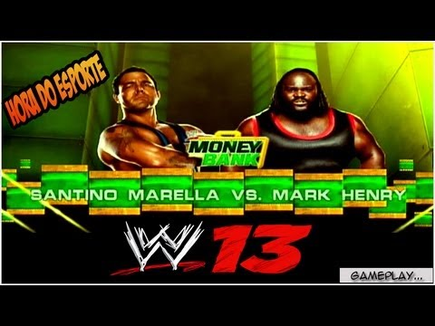 Hora do Sporte : WWE'13 : Santino Marella VS. Mark Henry xbox360
