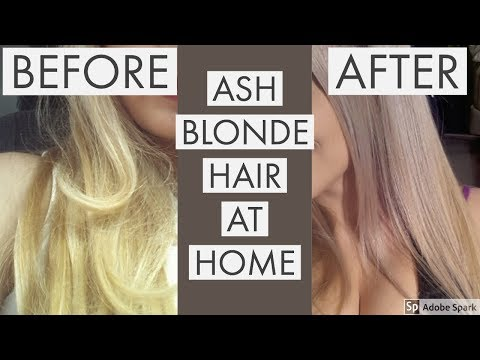 ASH BLONDE HAIR AT HOME (How to fix yellow hair)
