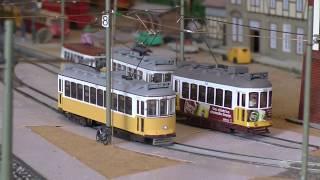 Lisbon Tram Model Type 'Americanos' in H0