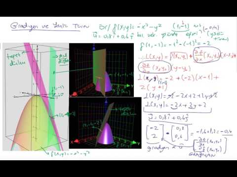 Gradient vector calculus