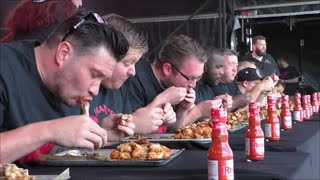 Grillstock London Frank's RedHot Wing Eating Contest Sun 6 Sept 2015🍗🌶🔥