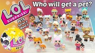 LOL Surprise Wave 2 Pets Unboxing + Barbie Pet Care Center | L.O.L. Series 3