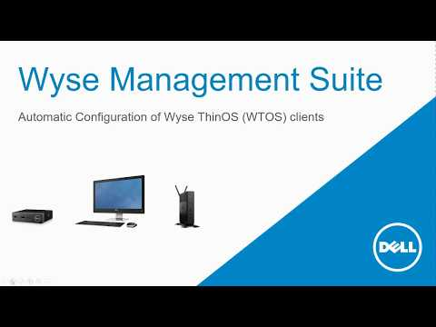 Wyse Thin OS device management with Wyse Management Suite