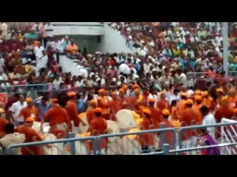 Attractive Pune band pathak in tirumala brahmotsavams garuda seva 2014