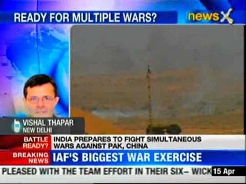India prepares to fight simultaneous war with Pakistan, China