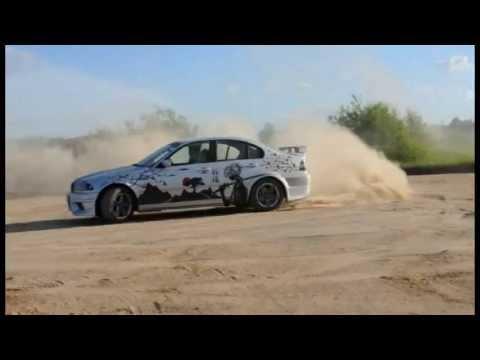 BMW e46 sands drift (drifting) дрифтит на песке