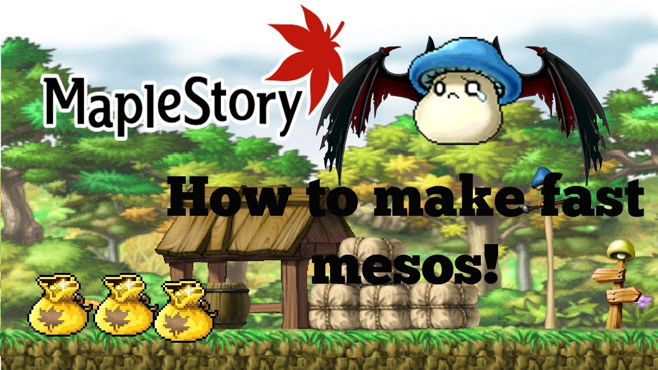 how to earn mesos quickly in maplestory