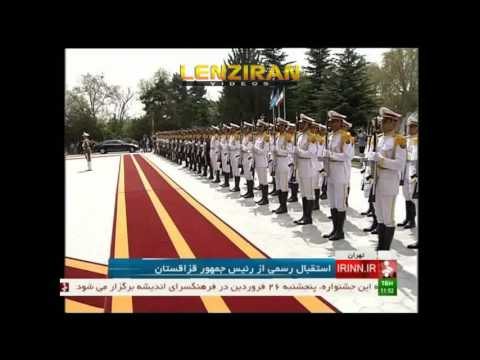 Hassan Rouhani lavish welcome of Kazakstan president in Saadabad palace