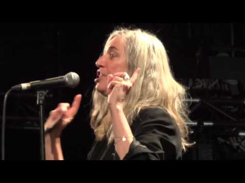 Patti Smith-Pissing in a river- (Pathway to Paris) 4TH dec 2015