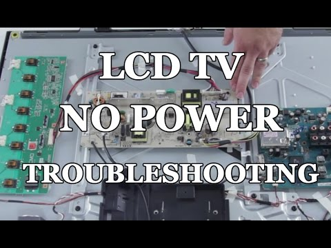 LCD TV Repair - No Power. Power Supply Common Symptoms & Solutions - How to Replace Power Supply