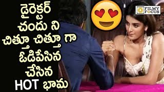 Nidhi Agarwal Wins Arm wrestling with Director Chandoo Mondeti || Savyasachi Team Interview