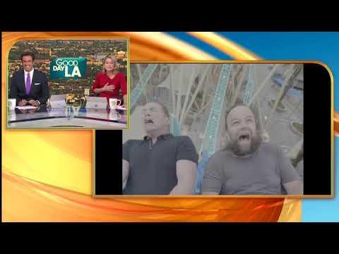 FOX 11's Matt Johnson rides new roller coaster 'HangTime' at Knott's Berry Farm
