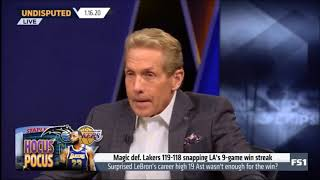 Skip Bayless react to Magic snap Lakers' 9-game winning streak in 119-118 thriller