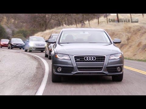 2012 BMW 328i vs Audi A4 2.0T, Infiniti G25, Mercedes-Benz C250 Sport, Volvo S60 T6 AWD