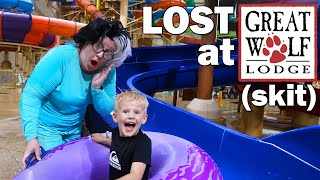 Hiding at Great Wolf Lodge!! {skit}