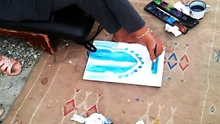 Painting with Legs - Physically Challenged Painter (Inspirational video)