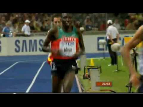 Kenenisa Bekele wins 10000m at WC 2009