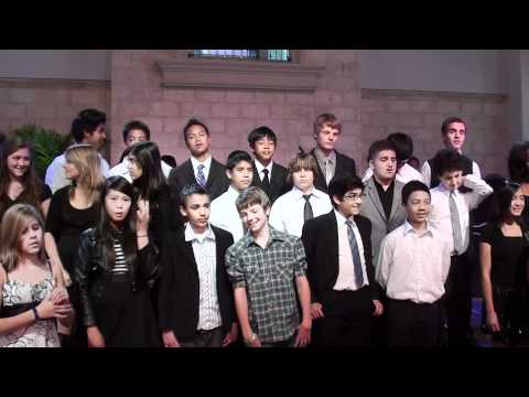 Redlands Adventist Academy sings at the Redlands SDA Church