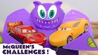 Cars McQueen race challenges with Hot Wheels Superhero Cars TT4U