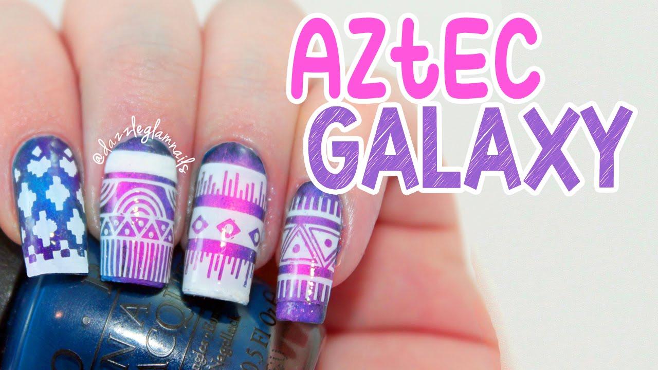Aztec Gel Nail Designs