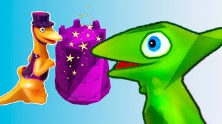 Green Dino Toy Learn Color with Kinetic Sand Education Video