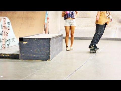 RONSON LAMBERT  Aura Skatepark Raw Skateboarding Clips 2016