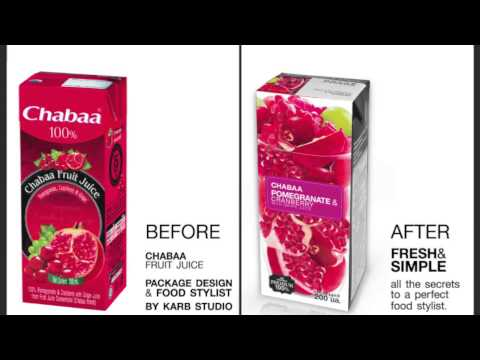 FOOD PACKAGING DESIGN_Chabaa_fruit juice Re-Design by KARB STUDIO (before-after) by Karb Studio
