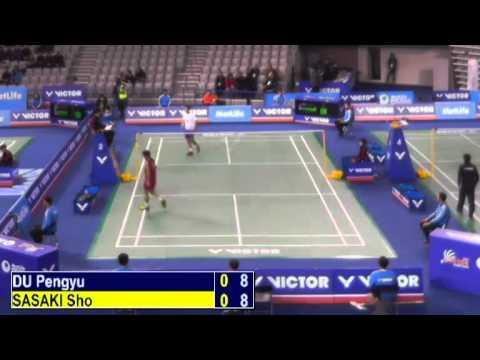 R32 - MS - Du Pengyu vs Sasaki Sho - 2014 Korea Badminton Open