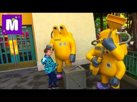 Париж День 3 Диснейленд катаемся на машинках и на карусели ночное шоу Disneyland Park Paris
