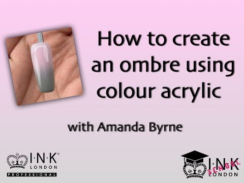 Acrylic Colour Ombre