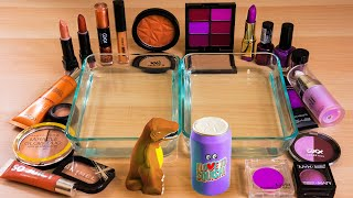 Mixing Makeup Eyeshadow Into Slime! Chocolate vs Purple Special Series #24 Satisfying Slime Video