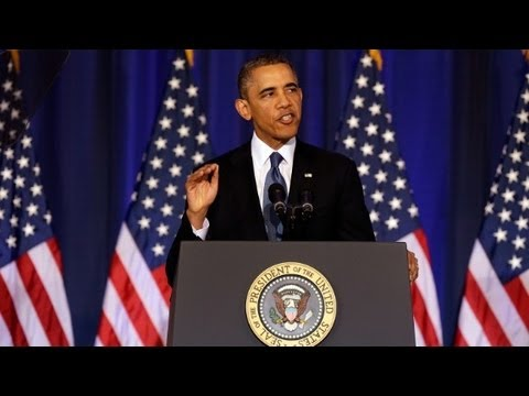 President Obama interrupted by heckler