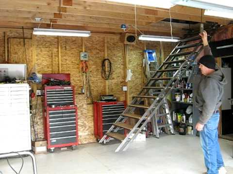 garage attic lift system with Watch on 4812201334 moreover Garage Ceiling Storage Loft further Garage Trailer Lift likewise Racor Storage Solutions Review Giveaway Us 1110 moreover Fakro Attic Ladder Installation Slideshows.