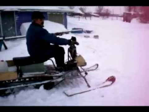 Самодельный снегоход на