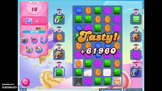 Candy Crush Level 2220 Audio Talkthrough, 3 Stars 0 Boosters