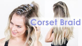 How to Corset Braid for Long & Short Hair! - KayleyMelissa