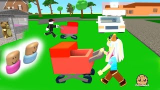 Baby Stroller Crazy - Roblox Let's Play Adopt and Raise a Cute Kid and Cube Eat Cube