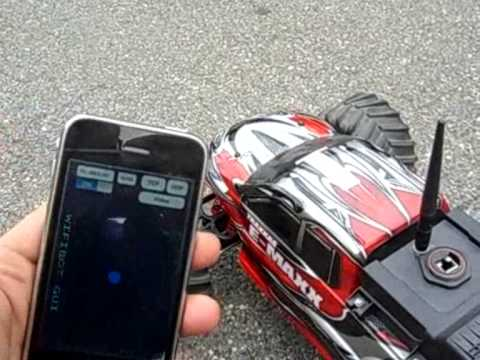 iphone take control of emaxx rc car using wifibot rc kit Music Videos