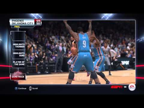 NBA 2015 - Oklahoma City Thunder vs Phoenix Suns - Post Highlights - NBA LIVE 15 PS4 - HD