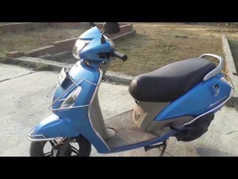 TVS Jupiter review. tvs jupiter blue Top speed. real mileage & exhaust sound.